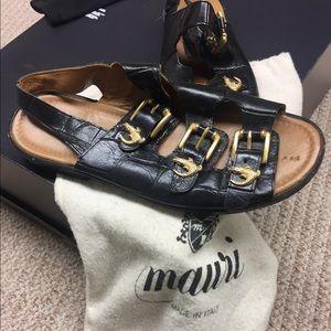 Vintage Mauri genuine Gator sandals
